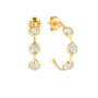 Georgini Kiklo Hoop Earrings w/ White Topaz - Gold