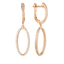 Georgini Aurora Celestial Earrings - Rose Gold