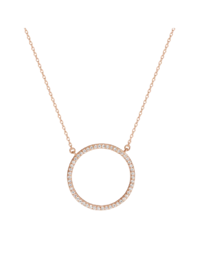 Georgini Virgo Pendant - Rose Gold - Mocha