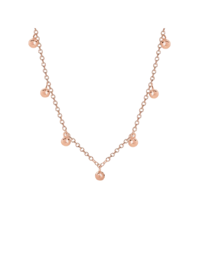 Georgini Bond Pendant - Rose Gold - Mocha