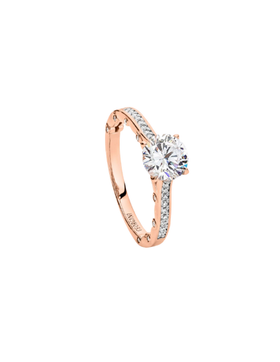 Georgini Ti Amo Ring - Rose Gold - Mocha