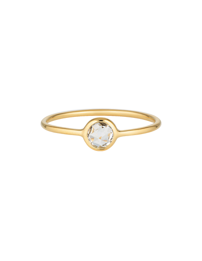 Georgini Eos Ring w/ White Topaz - Gold - Mocha