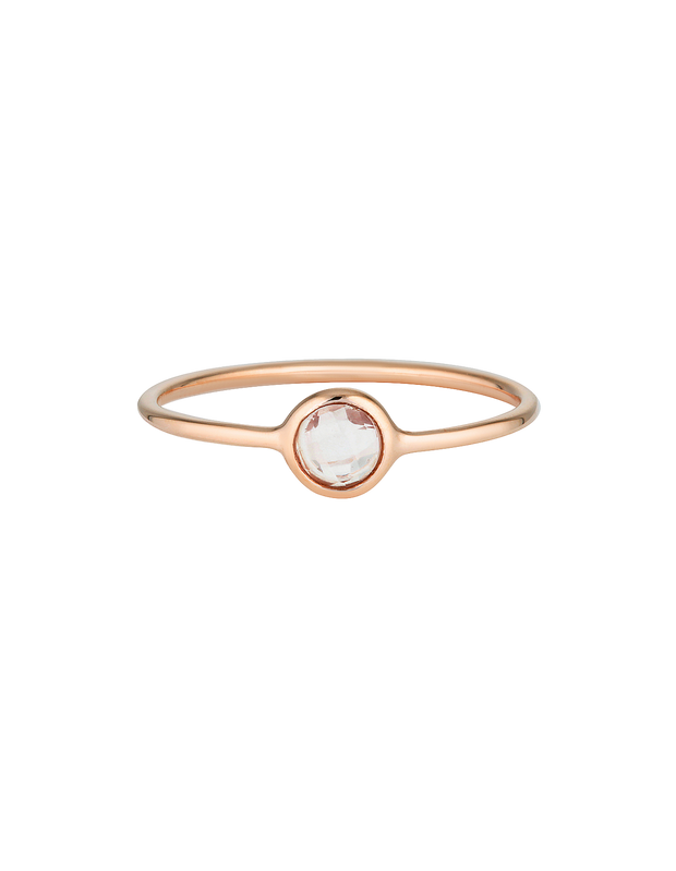 Georgini Eos Ring w/ White Topaz - Rose Gold - Mocha