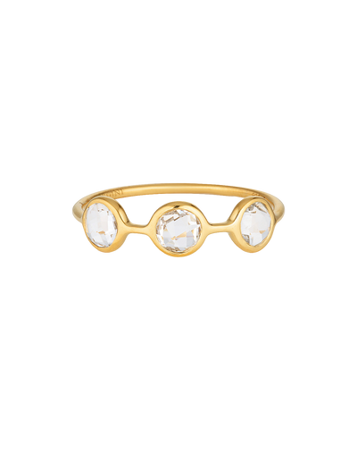 Georgini Kiklo Ring w/ White Topaz - Gold - Mocha