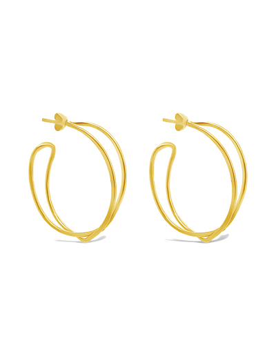 Ichu Intertwined Hoops Earrings - Gold - Mocha