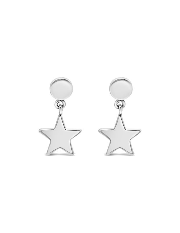 Ichu Floating Star Drop Earrings - Mocha