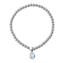 Von Treskow 4mm Stretchy Bracelet w/ Pear Moonstone