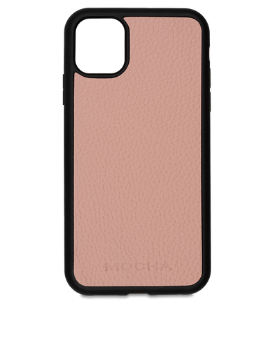 Mocha Limited Edition Pebble Leather Case For iPhone 11 Pro Max - Flamingo