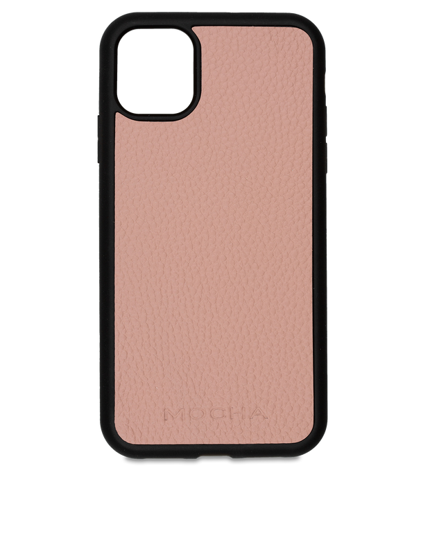 Mocha Limited Edition Pebble Leather Case For iPhone 11 Pro Max - Flamingo - Mocha