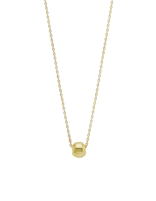 Ichu Tiny Ball Necklace - Gold - Mocha