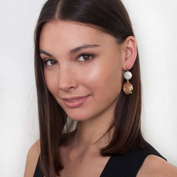 Zahar Alice Earrings - Mocha