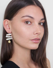 Zahar Dixie Earrings w/ Freshwater Pearls - Mocha