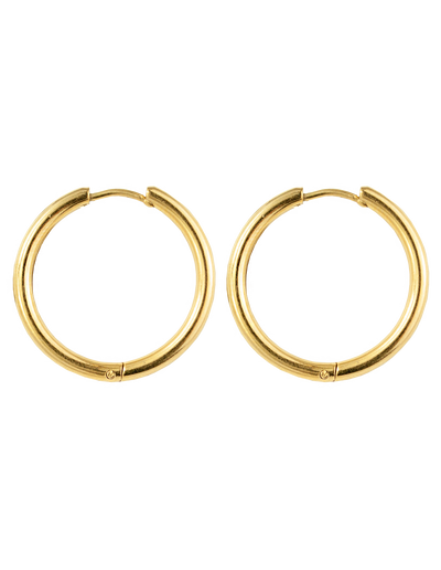 Zahar Greta Hoop Earrings - Mocha