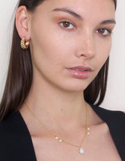 Zahar Lucy Hoop Earrings - Mocha