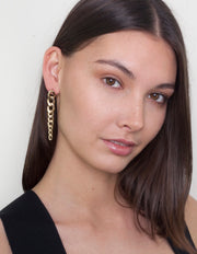 Zahar Charlie Link Chain Earrings - Mocha