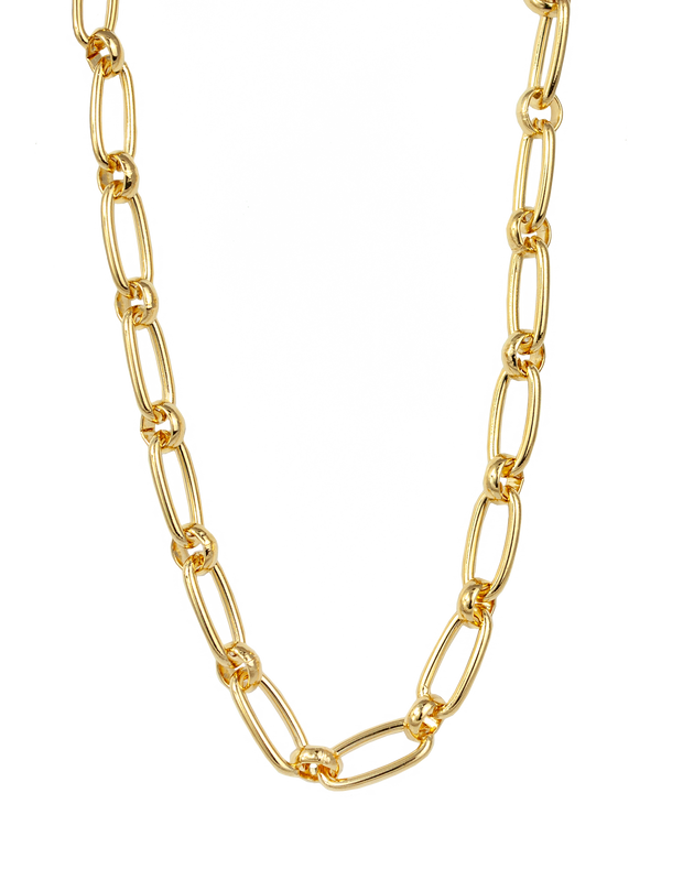 Zahar Zara Link Chain Necklace - Mocha