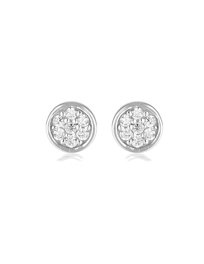 Georgini Dotti Stud Earrings w/ CZ - Silver - Mocha