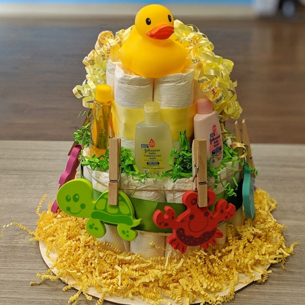 Diaper Cake Bath Time Small