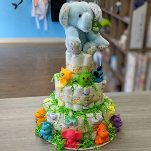 Diaper Cake Safari Large