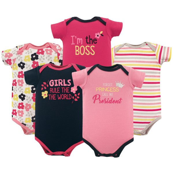 Bodysuits Forget Princess 5-Pack 0-3 mo