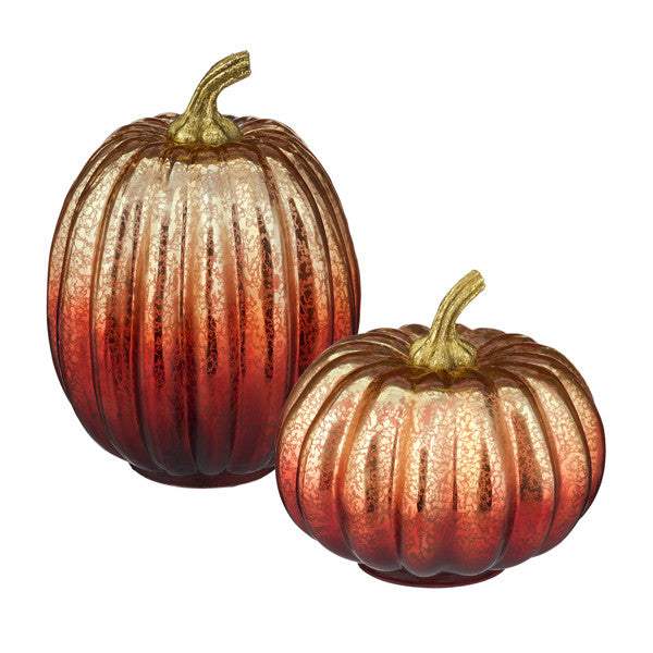 Glass Pumpkins Light-Up