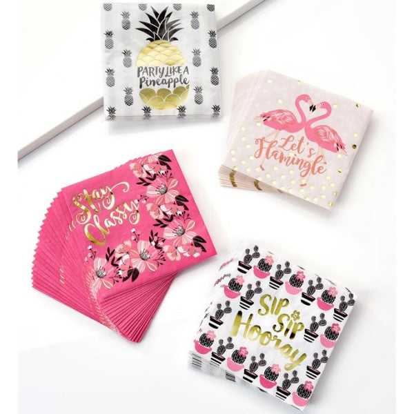 Cocktails Napkins Tropical Vibe