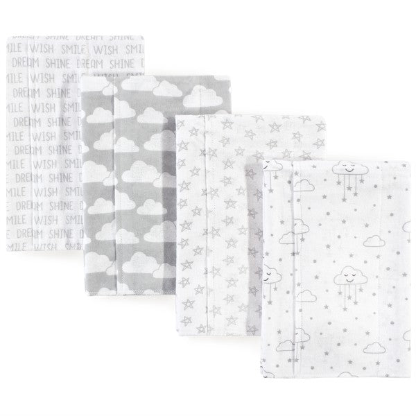 Burp Cloth Clouds 4-Pack