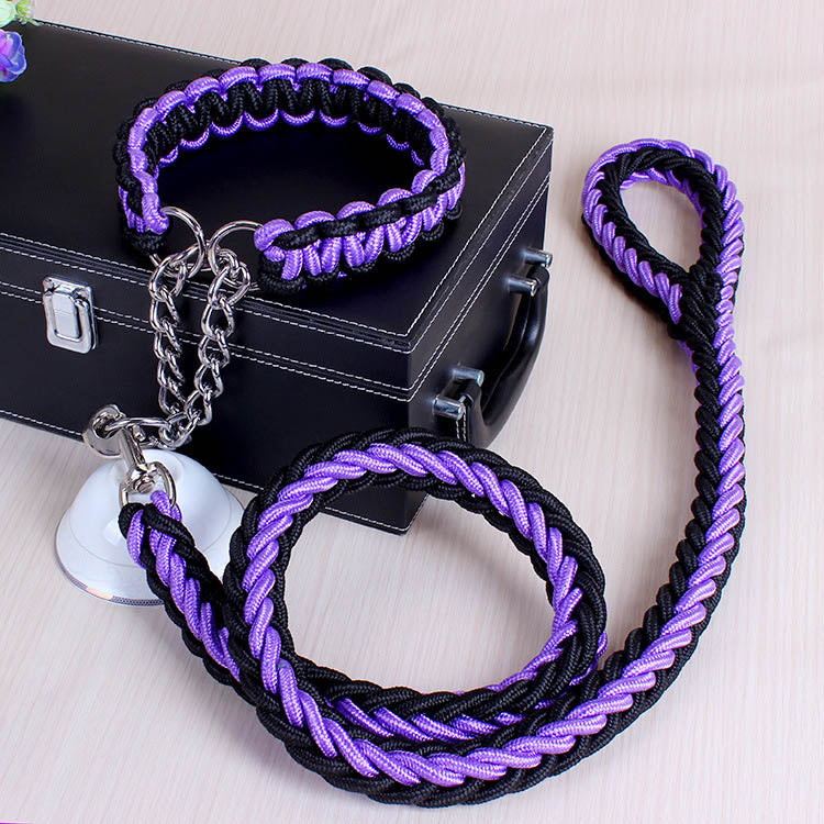 Adjustable Dog Collar Lead Nylon for Large Dogs