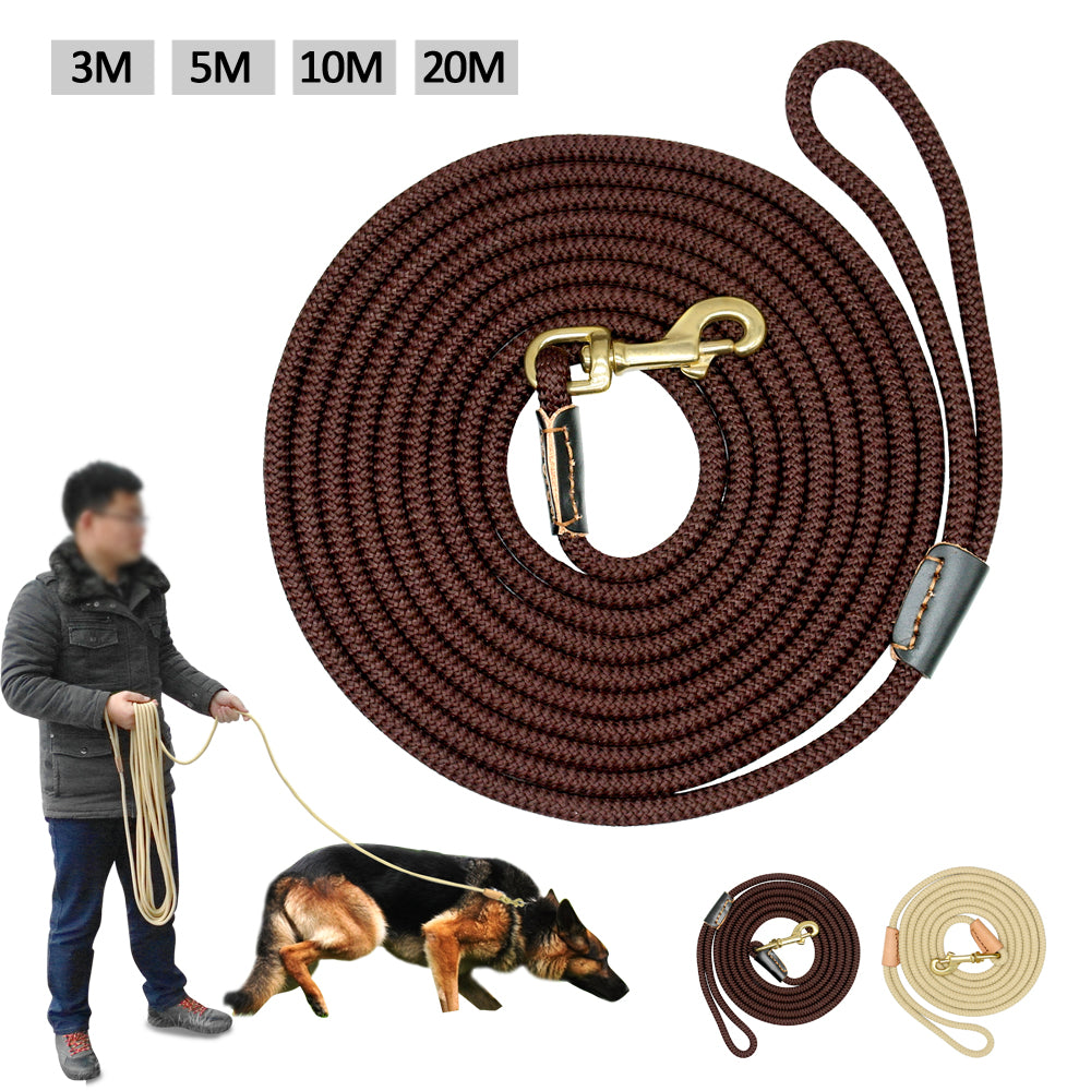 Durable Dog Tracking Leash Nylon Long Leads Rope Pet Training Walking Leashes 3m 5m 10m 20m For Medium Large Dogs Non-slip