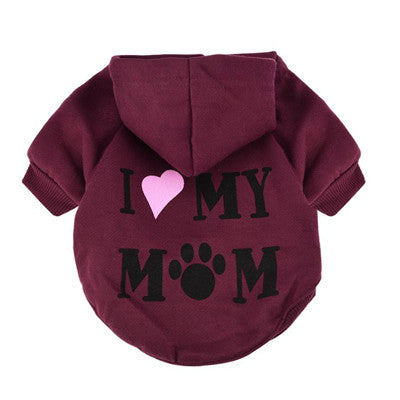 Small Pet Dog Clothes Coat Jacket Fashion Costume Puppy Thick Winter warm Hooded Thick Cotton Blend T-Shirt Apparel 2018