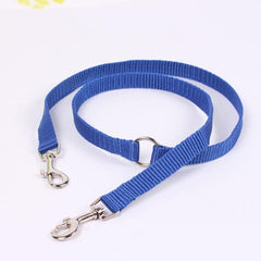 Adjustable Dog Strong Multicolor Lead Two Pet Dogs Walking Leash