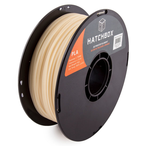 PLA Glow in the Dark Orange -1.75MM, 1KG spool