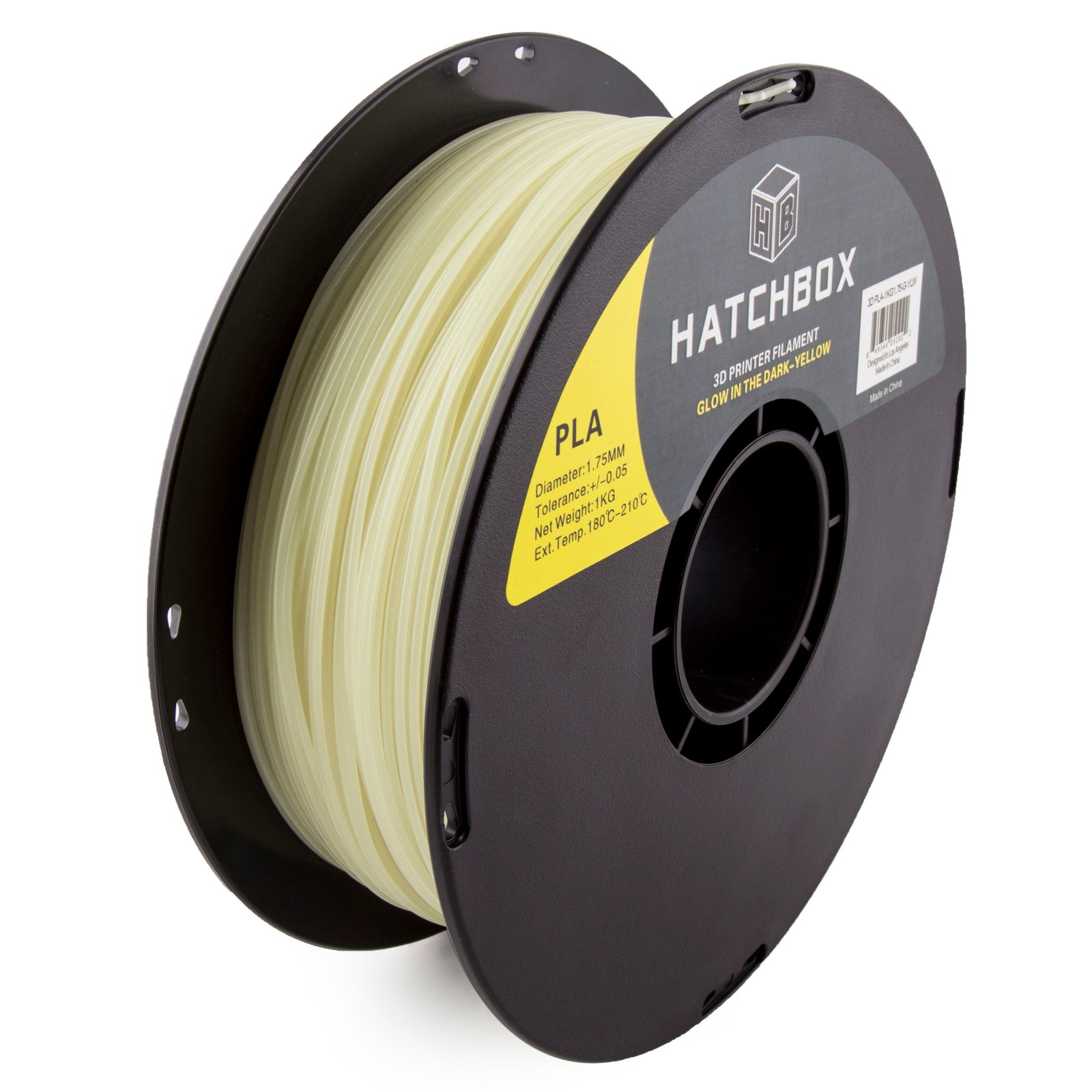 PLA Glow in the Dark Yellow -1.75MM, 1KG spool