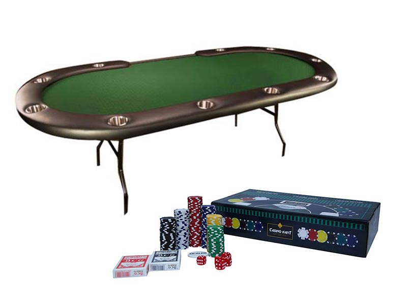 Casino Grade Foldable Table + Chipset with out Denomination - casino-kart
