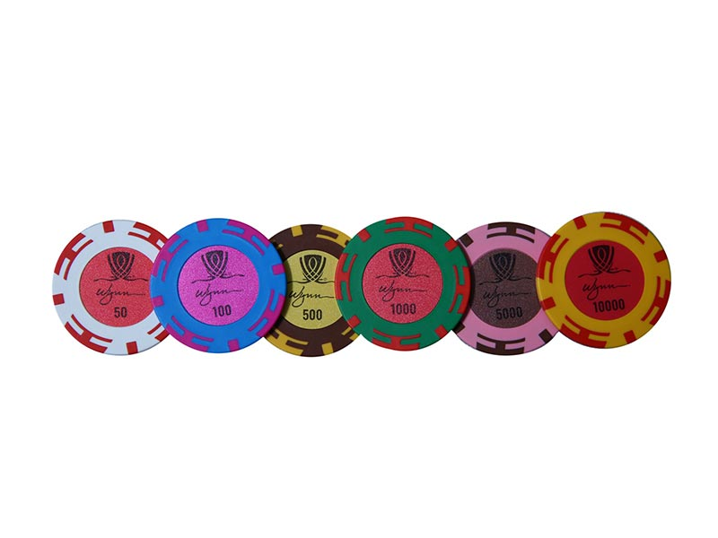 Wynn Clay Poker Chipset (45mm) 300 and 500 pieces - casino-kart