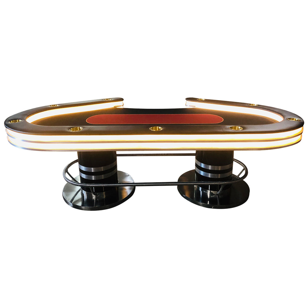 SuperHigh Roller Series LED Poker Table - LUXURY