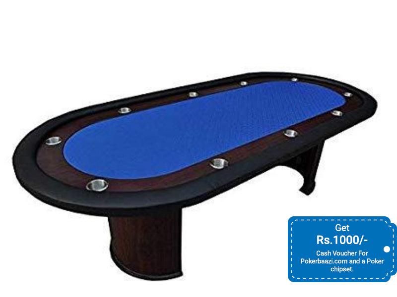Home Game Poker Table(BLUE) - OVAL SHAPE