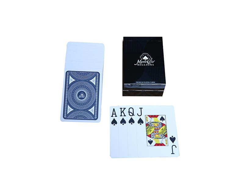 Monte Carlo Millions 100% Plastic Playing cards Pack of 2 - casino-kart