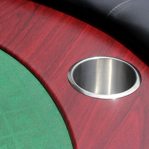 HOME GAME POKER TABLE | BLACK | RED | GREEN - casino-kart