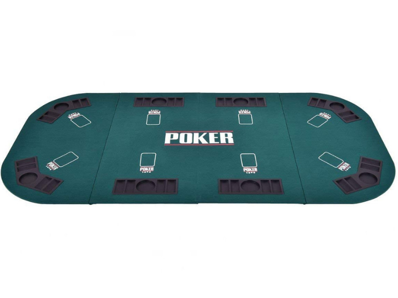 Folding Poker Table Top Rectangular Casino Kart