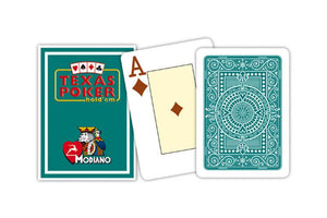 Modiano Texas Poker BROWN | PURPLE | SEA GREEN | LIGHT GREEN | LIGHT BLUE | RED | BLUE - casino-kart