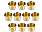 Brass Cup Holders Pack of 10 - casino-kart