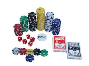 Premium Poker Chipset -300 pcs with denomination - casino-kart