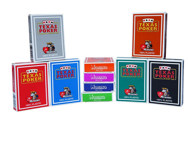 Modiano Texas Poker Pack of 10-All colours