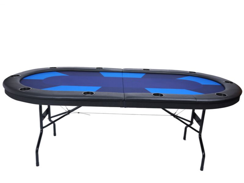 Casinokart Center Folding Table with Velveteen Gaming Felt and Folding Legs - casino-kart