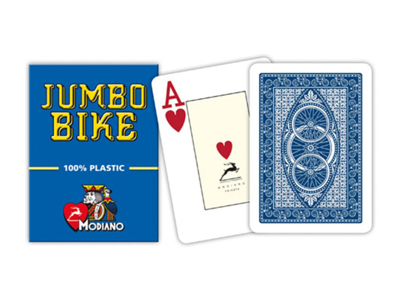 Texas Poker Jumbo Bike Blue/Red - casino-kart