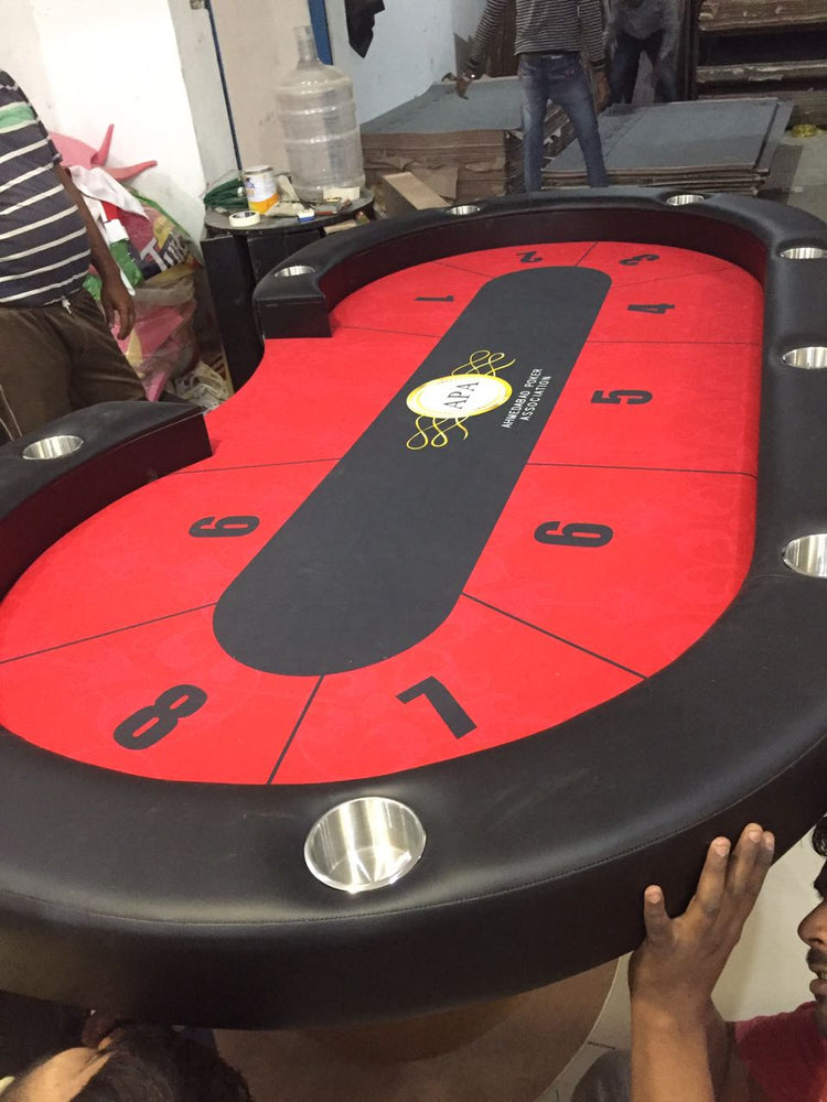 Domination Nation! 8.5×4.5Ft Poker Table With MWCE Felt - casino-kart