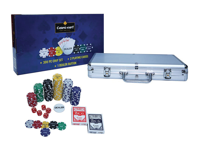 Premium Poker Chipset -300 pcs with denomination