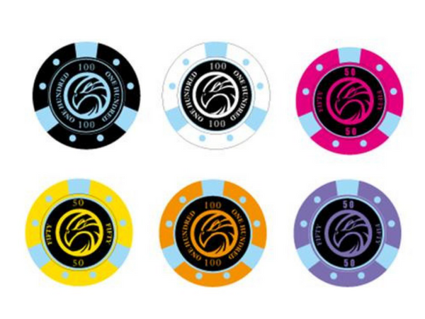 Night Hawk USA Professional Poker Chips - 500 Pcs with Box & 2 Modiano Cards - casino-kart