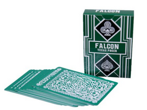 Falcon Texas Poker Jumbo Index Green - casino-kart